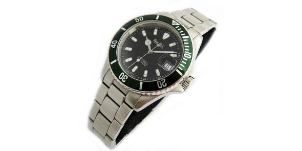 Marcello C Nettuno Divers Wristwatch Green Bezel - MAT 12