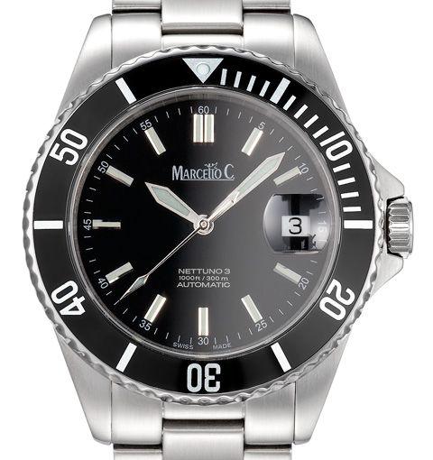 Marcello C Nettuno 3 Sw200 Automatic Divers Watch Mat 10