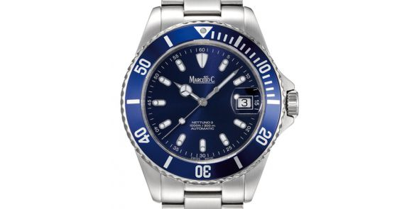 Marcello C Nettuno Divers Wristwatch Electric Blue Dial - MAT 02