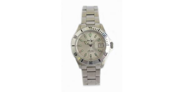 Marcello C Nettuno Divers Wristwatch - Satin Silver Dial - MAT 01