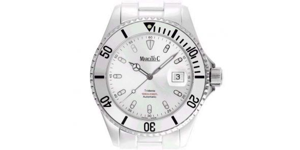 Marcello C Tridente Divers Wristwatch Satin Silver Dial - MAT 08