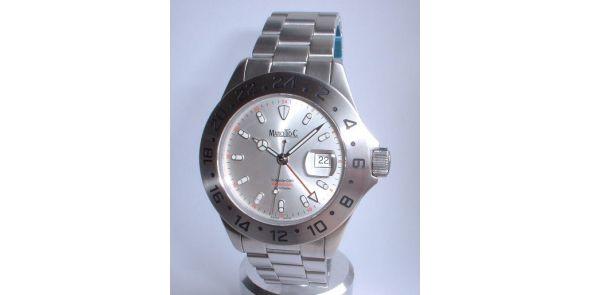 Marcello C Tridente GMT - Silver Dial - MAT 06