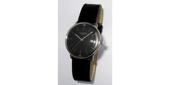 Max Bill by Junghans - Automatic Date. Black - MXB 11