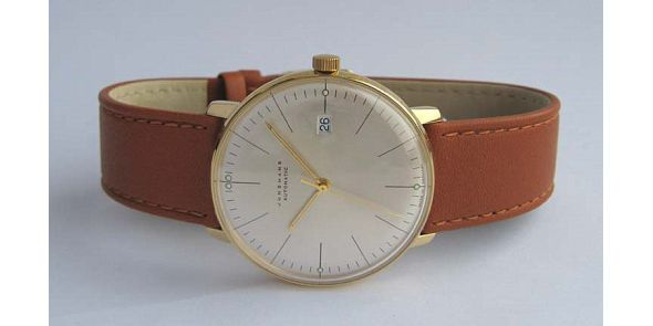 Max Bill by Junghans - Automatic Date. Gold Plate - MXB 13