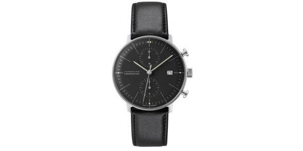 Max Bill Chronoscope by Junghans Automatic Chronograph - Black - MXB 09