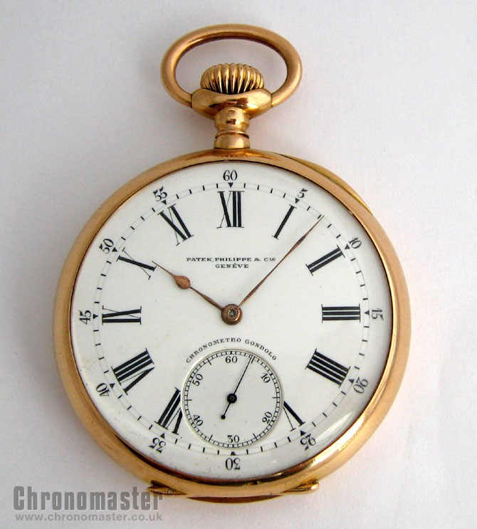 3b6bf324c7f Patek Philippe 18k Gents Automatic Pocket Watch PAT 10