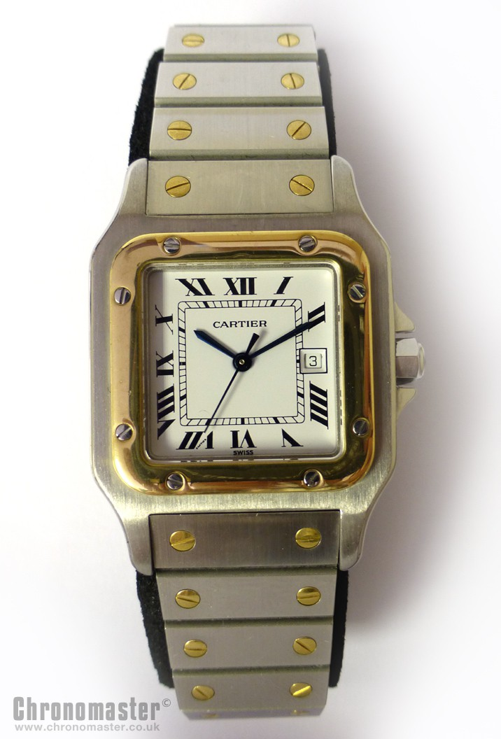 Cartier Santos Automatic Wristwatch Car 17 Chronomaster Uk