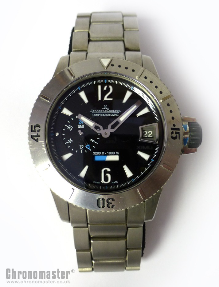 5f11044b072 Jaeger LeCoultre Master Compressor Diving GMT 1000m - Limited Edition  Titanium - NWW 1024
