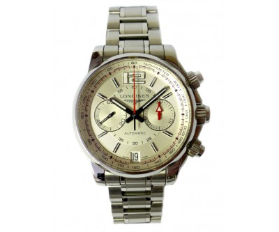 Longines Admiral Automatic Chronograph -silver dial - NWW 1049