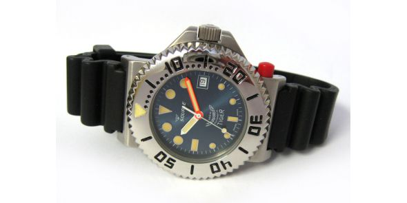 Squale Tiger 300 Metre Professional Divers Watch - Blue Dial - SQL 07