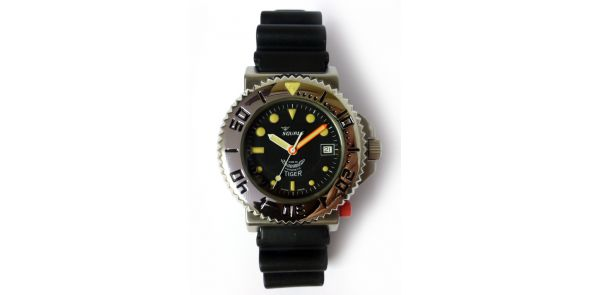 Squale Tiger 300 Metre Professional Divers Watch - Black Dial - SQL 12