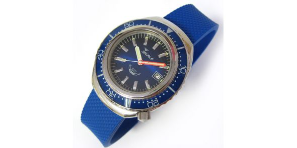 Squale 2002 Blue 1000 Metre Professional Divers Watch - SQL 04