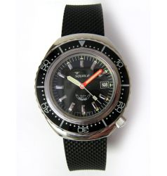 Squale Squale 2002 Black 1000 Metre Professional Divers Watch SQL 02