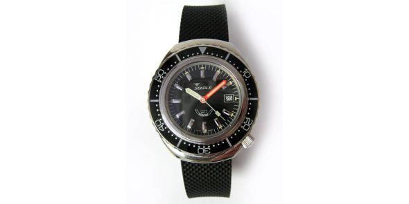 Squale 2002 Black 1000 Metre Professional Divers Watch - SQL 02