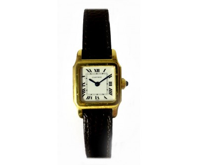 Cartier 18k Gold Santos Ladies Wristwatch mint - CAR 12