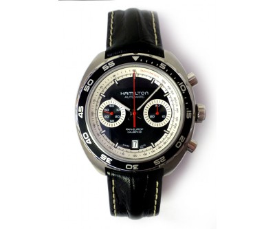 Hamilton Pan Europ Automatic Chronograph With Spare Steel Watch Case - NWW 1115