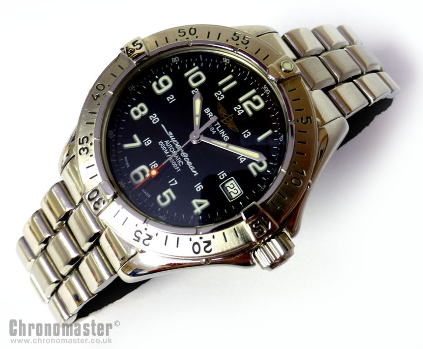 heritage chronograph red hands breitling superocean on ablogtowatch watches gold