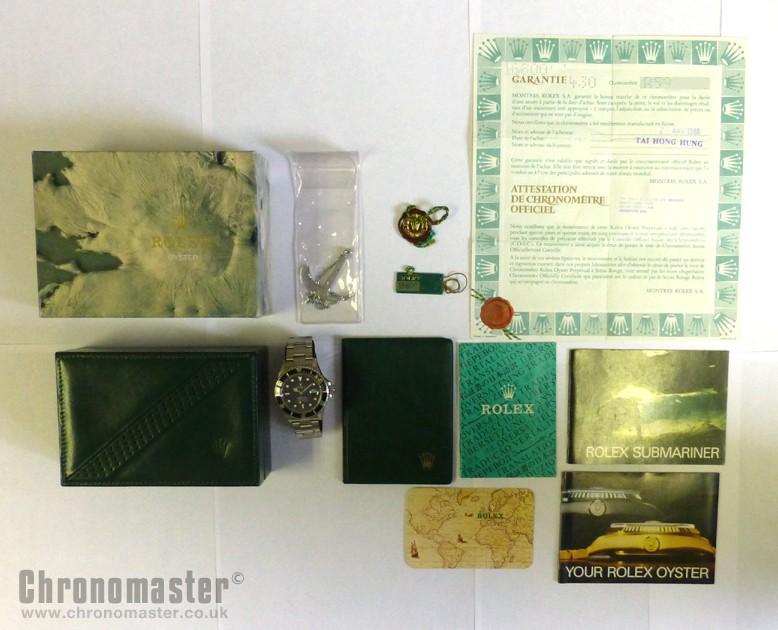 Used Rolex Submariner >> Rolex Submariner Transitional Model 168000 Original Box ...
