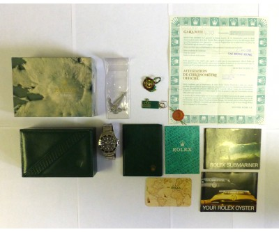 Rolex Submariner Transitional Model 168000 Original Box and Papers - ROL 629