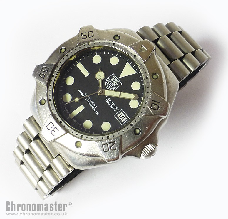 tag heuer super professional 1000 metre divers watch heu 208 chronomaster uk. Black Bedroom Furniture Sets. Home Design Ideas