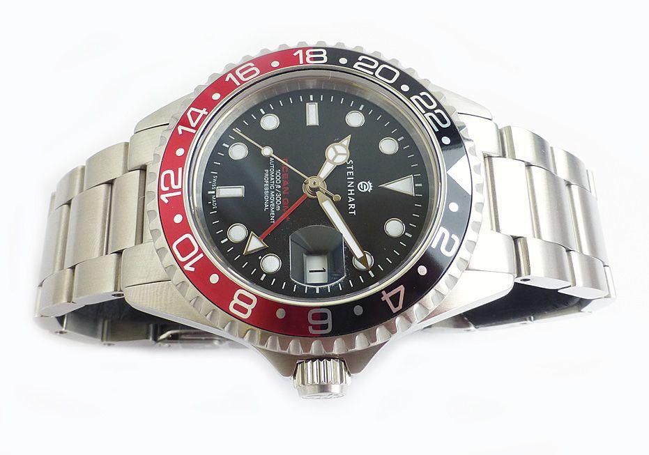 Steinhart GMT Ocean 1 Black Red 0836 | Chronomaster UK