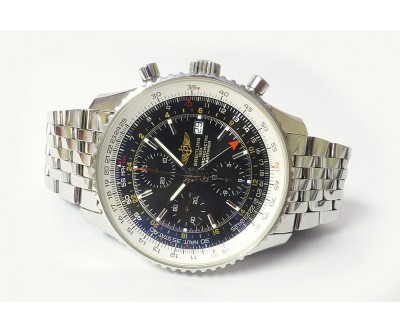 Breitling Navitimer World Automatic Chronograph Leather Strap and Bracelet - BRL 191