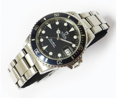 Tudor Submariner Automatic Divers Watch With Rolex Service Receipt - TUD 47