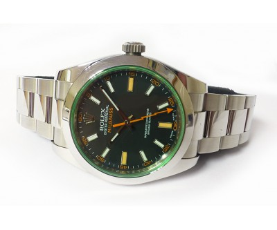 Rolex Milgauss Anniversary - Green Glass Watch. - ROL 616