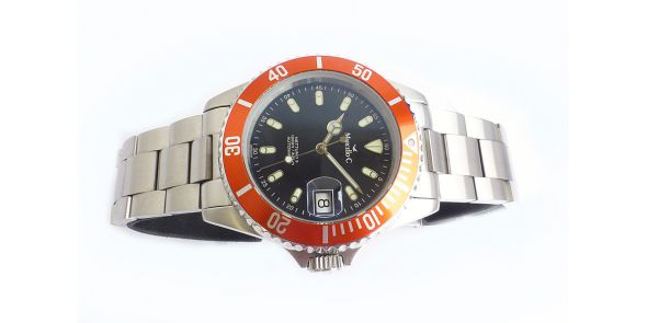 Marcello C Nettuno Divers Wristwatch Orange Bezel - MAT 14