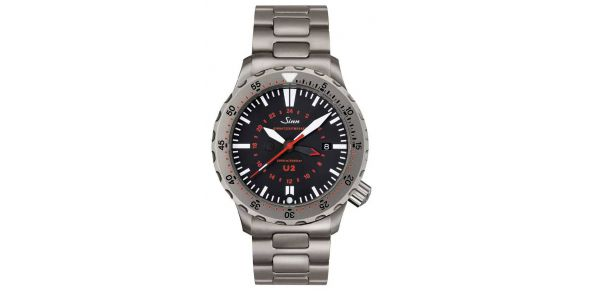 Sinn U2 Divers Automatic Wristwatch (EZM 5) on Bracelet - SIN 43b