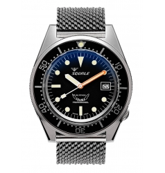 Squale Squale 1521 - Black Dial. Polished Case 1521CL.ME