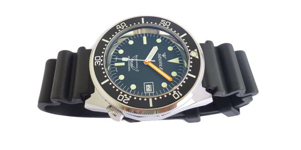 Squale 1521 Steel 500 Metre Professional Divers Watch Black Dial - SQL 18