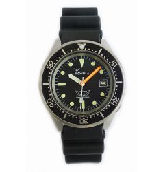 Squale Squale 1521 Steel 500 Metre Professional Divers Watch Black Dial Sand Blasted Case SQL 17