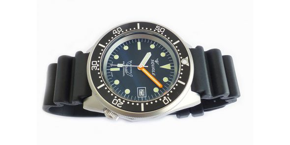 Squale 1521 Steel 500 Metre Professional Divers Watch Black Dial Sand Blasted Case - SQL 17