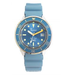 Squale Squale 1521 Steel 500 Metre Professional Divers Watch Blue Dial SQL 15