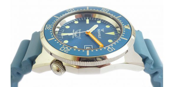 Squale 1521 Steel 500 Metre Professional Divers Watch Blue Dial - SQL 15