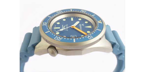 Squale 1521 Steel 500 Metre Professional Divers Watch Blue Dial Sand Blasted Case - SQL 14