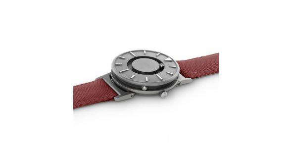 Eone Bradley Titanium with Red Strap - BR-C-RED