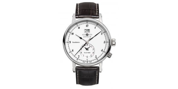 Zeppelin Nordstern Dual Time White Dial - 7540-1