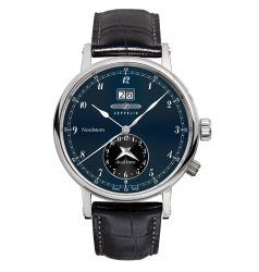 Zeppelin Nordstern Dual Time Blue Dial 7540-3
