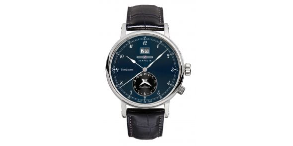 Zeppelin Nordstern Dual Time Blue Dial - 7540-3