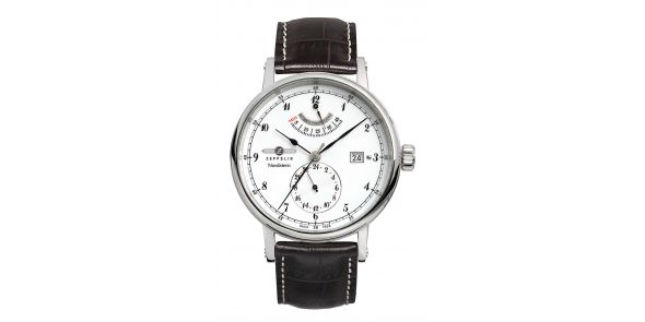 Zeppelin Nordstern Power Reserve White Dial Automatic - 7560-1
