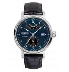 Zeppelin Nordstern Power Reserve Blue Dial Automatic 7560-3