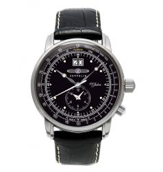 Zeppelin LZ-127 Hindenburg Dual Time Black Dial 7640-2