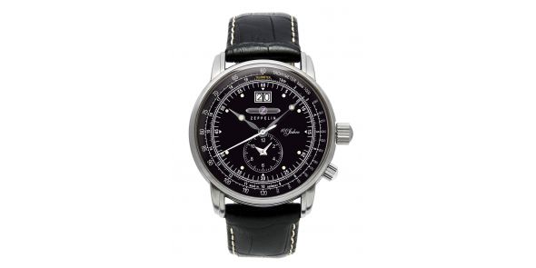 Zeppelin LZ-127 Hindenburg Dual Time Black Dial - 7640-2