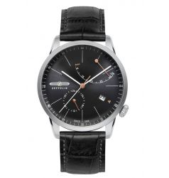 Zeppelin Flatline Automatic Power Reserve Black Dial 7366-2