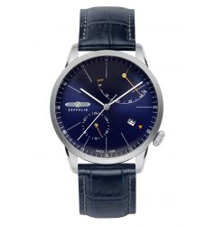Zeppelin Flatline Automatic Power Reserve Blue Dial 7366-3