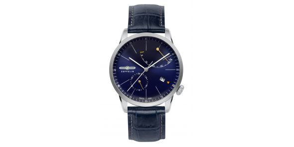 Zeppelin Flatline Automatic Power Reserve Blue Dial - 7366-3