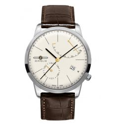 Zeppelin Flatline Automatic Power Reserve Cream Dial 7366-5