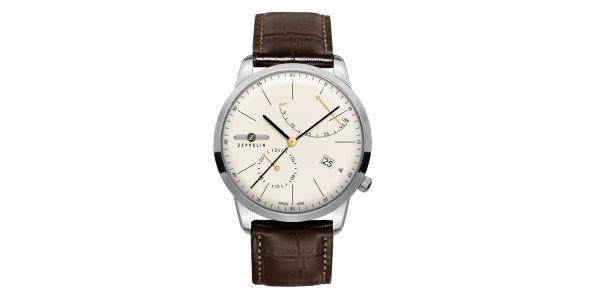 Zeppelin Flatline Automatic Power Reserve Cream Dial - 7366-5